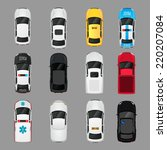 Cars Transport Top View Icons...