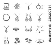 Jewelry Black Icons Set Of...