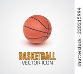 realistic basketball icon. logo.... | Shutterstock .eps vector #220215994