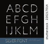 thin sliver steel font  ... | Shutterstock .eps vector #220217014