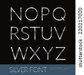 thin sliver steel font  ... | Shutterstock .eps vector #220217020