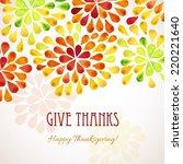 thanksgiving background design | Shutterstock .eps vector #220221640
