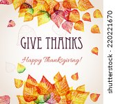thanksgiving background design | Shutterstock .eps vector #220221670
