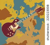 electric guitar vector graphic...