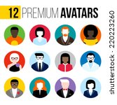 modern flat vector avatars set. ... | Shutterstock .eps vector #220223260