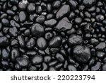 Wet  Black  Shiny Stones