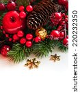 christmas decorations on the... | Shutterstock . vector #220232350