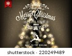 merry christmas and happy new... | Shutterstock .eps vector #220249489