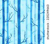 winter seamless texture in blue ... | Shutterstock . vector #220249663