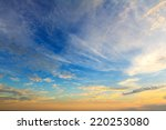 Beautiful Sky At Sunset Time