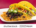 Mexican Tacos With Rice  Black...