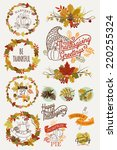 vector collection of... | Shutterstock .eps vector #220255324