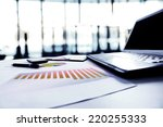graphs  charts  business table. ...   Shutterstock . vector #220255333