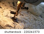 sewing machine with white... | Shutterstock . vector #220261573