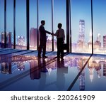 silhouette of business people... | Shutterstock . vector #220261909