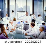 diverse business people... | Shutterstock . vector #220262329