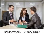 negotiating the deal. three... | Shutterstock . vector #220271800