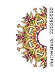 vintage invitation card | Shutterstock .eps vector #220280500