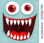 cute monster face | Shutterstock .eps vector #220281784