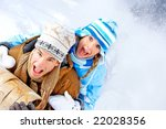 young  happy smiling couple... | Shutterstock . vector #22028356