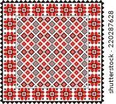 ethnic vector geometric... | Shutterstock .eps vector #220287628