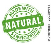 made with natural ingredients... | Shutterstock .eps vector #220289956