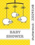 baby shower invitation ... | Shutterstock .eps vector #220293148