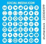 social media icons vector | Shutterstock .eps vector #220304599