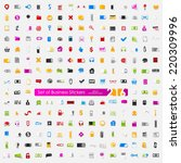 set of business stickers   Shutterstock .eps vector #220309996