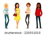 cute cartoon illustration of...   Shutterstock . vector #220311013