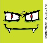 green monster face vector... | Shutterstock .eps vector #220312570