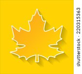 vector maple leaf . autumn... | Shutterstock .eps vector #220315363
