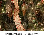 christmas tree decorations with ... | Shutterstock . vector #22031794