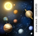 an illustration of the planets...   Shutterstock .eps vector #220319533