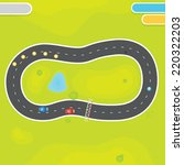 race game field landscape with... | Shutterstock .eps vector #220322203