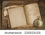 Vintage Treasure Map In Open...