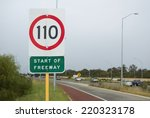 speed limit and start of... | Shutterstock . vector #220323178