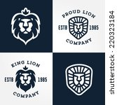 set of lion logo templates  for ... | Shutterstock .eps vector #220323184