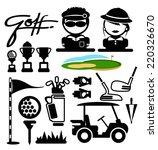 golf sport  icons. vector | Shutterstock .eps vector #220326670