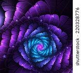 dark blue and purple fractal... | Shutterstock . vector #220328776