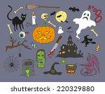 halloween design element.... | Shutterstock .eps vector #220329880