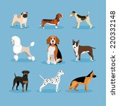 vector icons dogs set isolated... | Shutterstock .eps vector #220332148