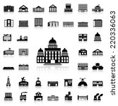 set of government building... | Shutterstock .eps vector #220336063