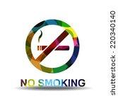 no smoking sign colorful vector ... | Shutterstock .eps vector #220340140