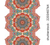 indian seamless floral pattern. ... | Shutterstock .eps vector #220340764