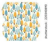 vector template of christmas... | Shutterstock .eps vector #220340890