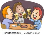 illustration featuring men... | Shutterstock .eps vector #220343110