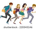 illustration featuring teen... | Shutterstock .eps vector #220343146