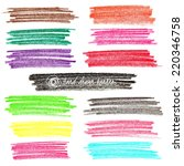 set of colored doodle sketch... | Shutterstock .eps vector #220346758