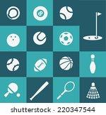 sport icons | Shutterstock .eps vector #220347544